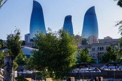 Die Flame Towers in Baku